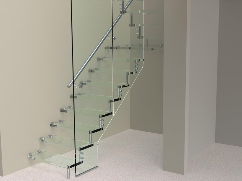 Glass Staircase M-tech Engineering