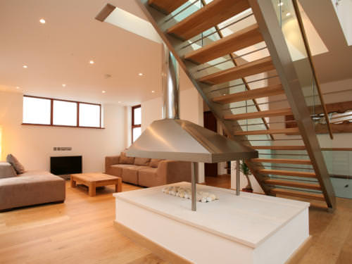 Residential domestic contemporary staircase M-tech Engineering