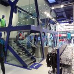 Asics London straight staircase commercial M-tech Engineering