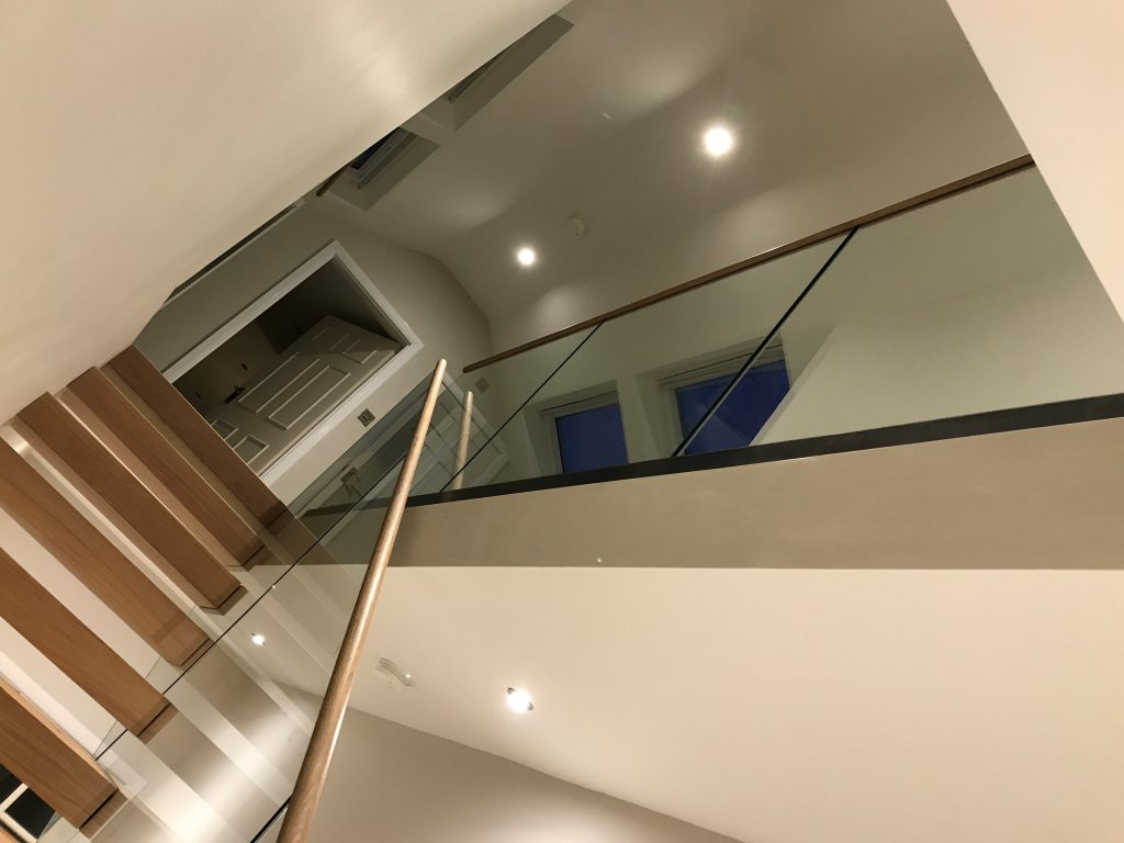 Byron Crawford residential straight staircase M-tech Engineering