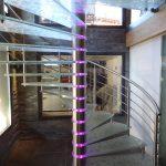 Chamonix spiral staircase M-tech Engineering