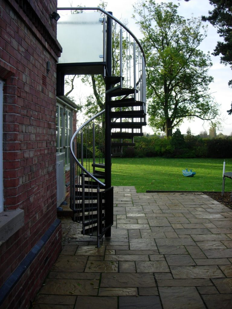 Fire escape spiral staircase M-tech Engineering