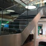 Llyods Leeds straight staircase commercial M-tech Engineering