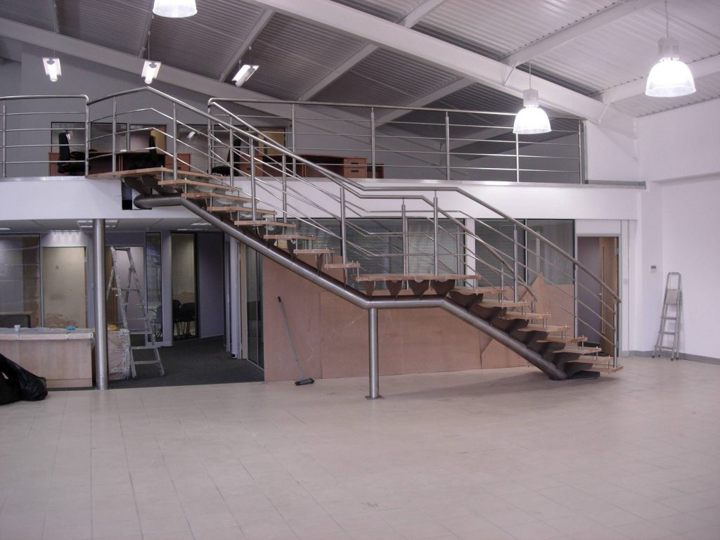 Mazda Coventry helical staircase M-tech Engineering Nottingham