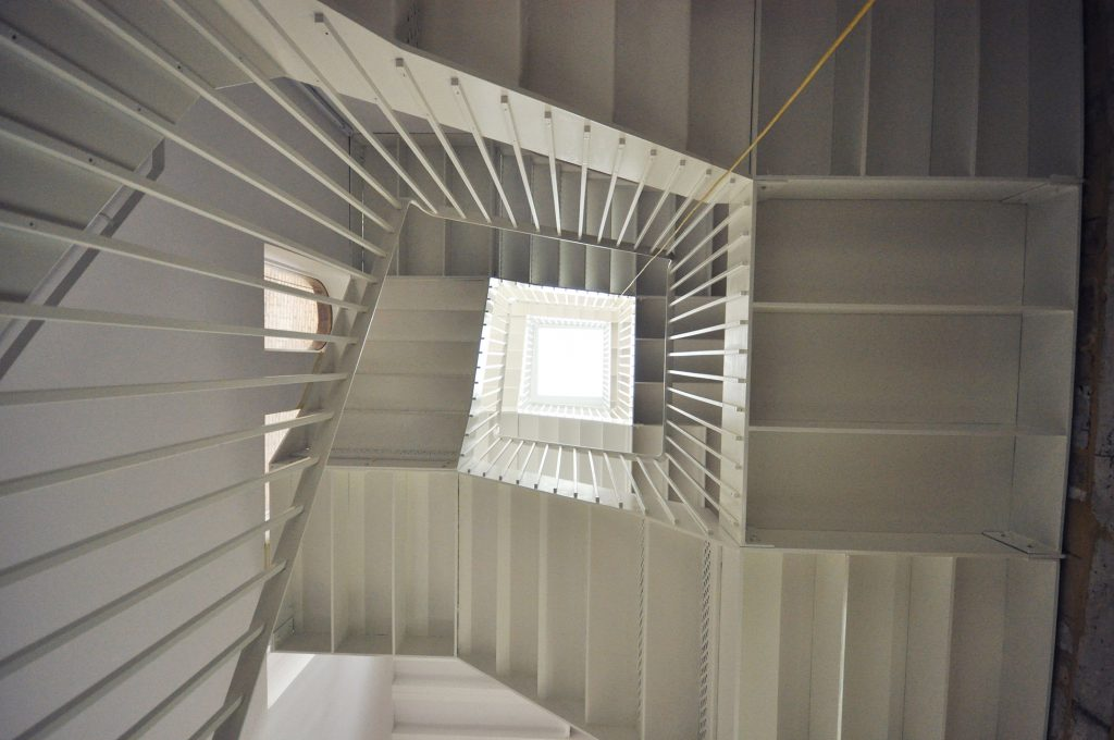 South london gallery commercial straight staircase M-tech Engineering