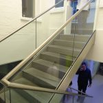 Sterling grey wimpoke street commercial straight staircase M-tech Engineering