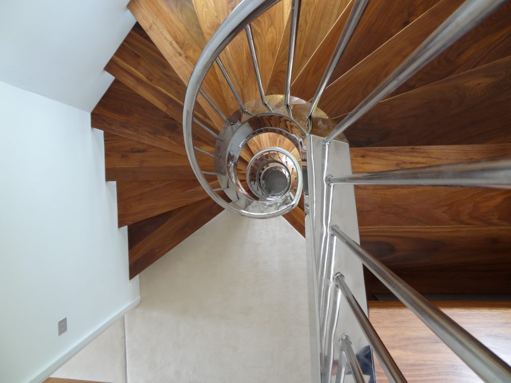 Twickenam helical staircase M-tech Engineering